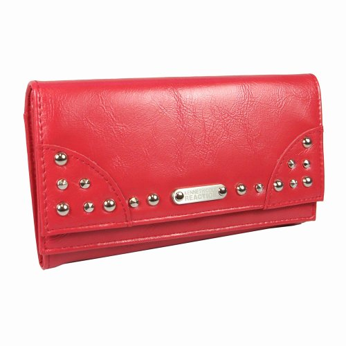 Kenneth Cole Reaction Double Flap Womens Clutch Wallet Purse in Choice of Colors