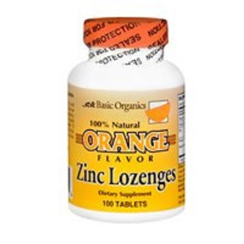Basic Organics Zinc Lozenges, Orange, 100ct (6 Pack) (Basic Organics Inc compare prices)
