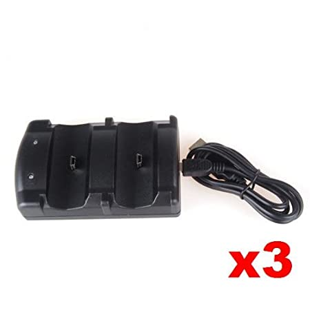Neewer 3x Dual USB 2 Charge Charger Dock for Sony PS3 Controller