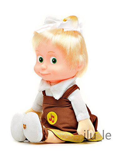 [RusToyShop] 30 Cm Russian Language Talking and Singing Toy Schoolgirl Doll Masha and the Bear, the Famous Cartoon, Musical Toy, a Soft Gift, Girl, Birthday 11,4 Inch (Russian Bear Toy compare prices)