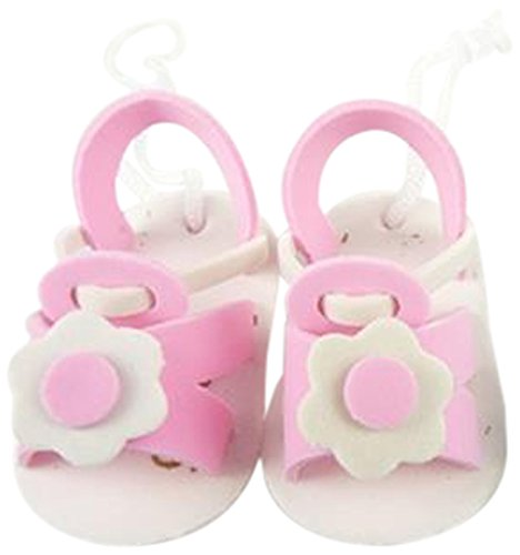 Firefly Imports Baby Slipper Baby Shower Decoration, 2.5-Inch, Light Pink, 12-Pack