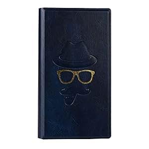 Jo Jo Moustache Series Cover Leather Pouch Flip Case For Huawei Honor 5C Dark Blue
