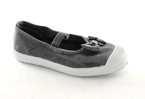 CIENTA 73777 21/27 grigio scarpe bambina ballerine elastico tessuto fiocco 25