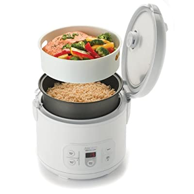 Aroma ARC-996 6-Cup (Uncooked) 12-Cup (Cooked) Digital Rice Cooker and Food Steamer, White from Aroma Housewares