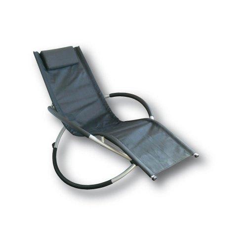 Proteam MF1121 - Moon Rocker Black Textiline indoor / outdoor garden chair