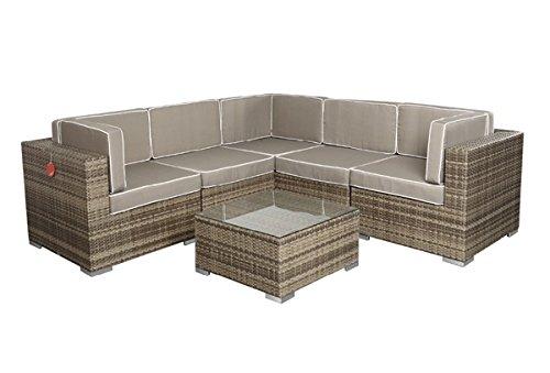 Rattan Lounge Espace Exclusive Start 3 – 2 Sitze inkl. Kissen – Farbe: Grau meliert online bestellen