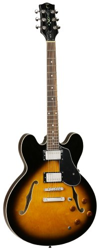 Tanglewood Semi-Hollow Body Archtop Electric Guitar With All-Maple Body Vintage, Sunburst Gloss Finish (Tsb59-Vs)