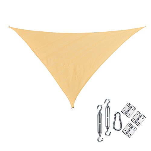 RainLeaf 10' x 10' x 14' Right Triangle Sun Shade Sail for Outdoor and Patio with Hardware Kit, 2nd Generation, Desert Sand (Sun Shade Sail 14 compare prices)