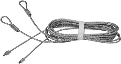 National Hardware V7618 Garage Door Torsion Spring Lift Cables, Galvanized, 8-Feet 8-Inch by 1/8-Inch