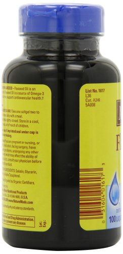 Nature made flaxseed oil 1000mg 100 softgels online for Fish oil pills side effects