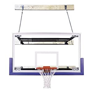 First Team SuperMount 68 Triumph Wall-Mounted Basketball Hoop with 72 Inch Glass Backboard