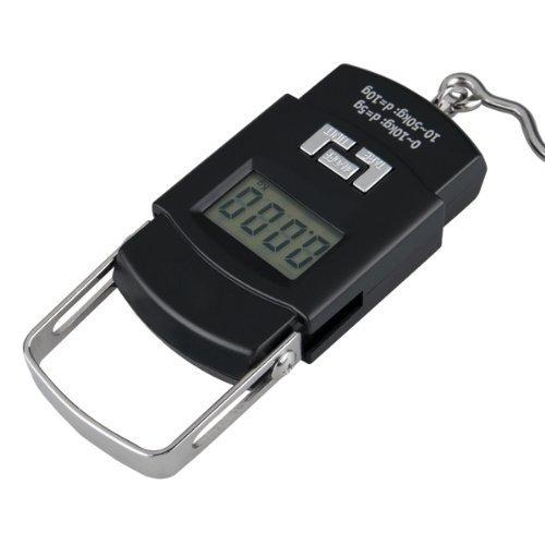 SODIAL (R)BALANCE DE POCHE ELECTRONIQUE LCD 50 KG 4 UNITES AVEC CROCHET