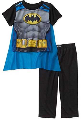 Dc Comics Batman Short Sleeve Pajama With Cape For Boys (6) front-947300