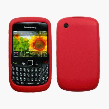 Red Silicone Case / Skin / Cover for RIM BlackBerry Curve 8520 / 8530