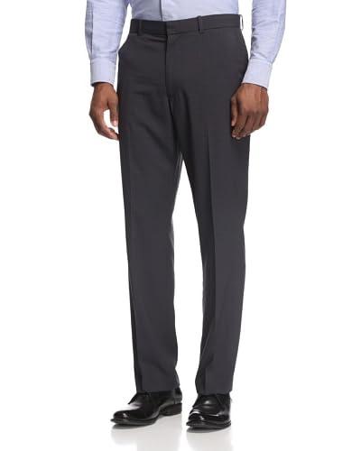 Perry Ellis Men's Bottoms Tonal Plaid Pant  [Evening Blue]