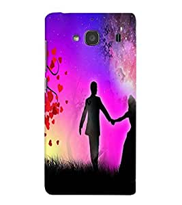 Fuson Love Couple Back Case Cover for XIAOMI REDMI 2A - D3888