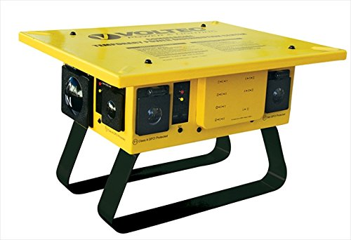 Voltec 09-0T676 20 AMP 5-20R T-Slot T-Box With 6 GFCI, Case Of 1