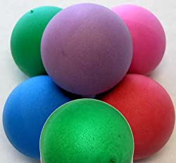 Stress Balls - 100 PLAIN Balls, Assorted Colors, Foam Ball, No Imprint