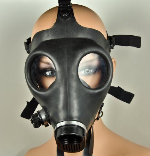 Plain Black Gas Mask Industrial Cyber Goth Anime Cosplay Diy Design Halloween