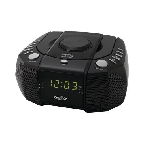 Jensen Jcr-310 Dual Alarm Clock Am/Fm Stereo Radio With Top Loading Cd Player