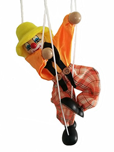 Kinglight-Manual-Educational-ToysWooden-Marionette-ToysClown-puppet-DollsParent-Child-Interactive-ToysYellow