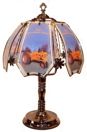 Minneapolis Moline Tractor Pewter Touch Lamp