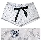 B-up Andrea Boxer Shorts-ivory with Floral Print By B Up
