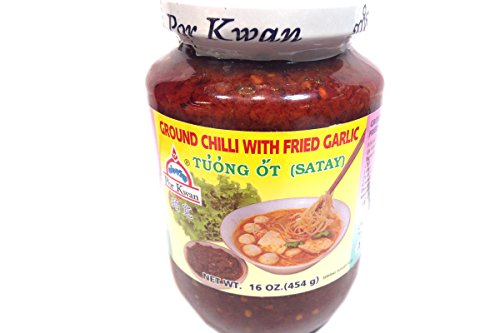 Tuong Ot Satay (Ground Chilli With Fried Garlic ) - 16Oz (Pack Of 1)
