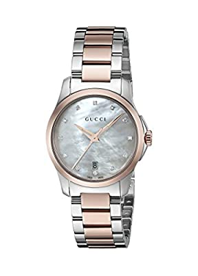 Gucci Women's 'G-Timeless' Quartz Stainless Steel Automatic Watch, Color:Silver-Toned (Model: YA126544)