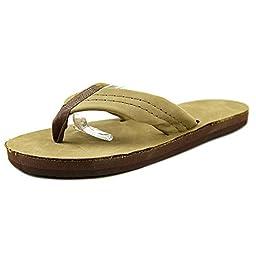 Rainbow Sandals Kids Leather Flip-Flops - Sierra Brown 2-3