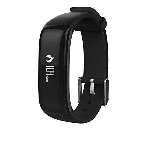 H-Band Fitness Tracker Smart Wristband, App - IP67 Water Resistance / Bluetooth 4.0, Blood pressure Monitor and Heart Rate Monitor, Compatible with Android and IOS