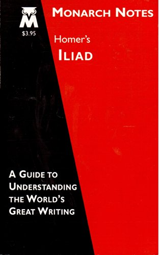 Homer's Iliad (Monarch notes)