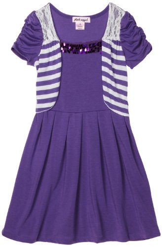 Girls Caterpillar Sleeve Dress