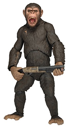 "NECA Dawn of The Planet of The Apes 7"" Scale Action Figure - Series 2 Caesar with Shotgun"