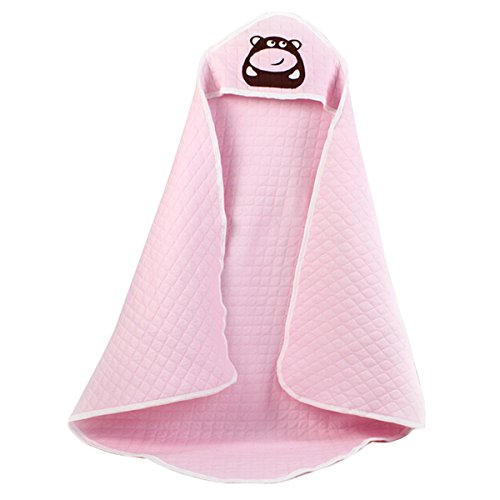 Aubig Infant Baby Swaddle Blanket Hooded Wrap Sleeping Bag - Pink