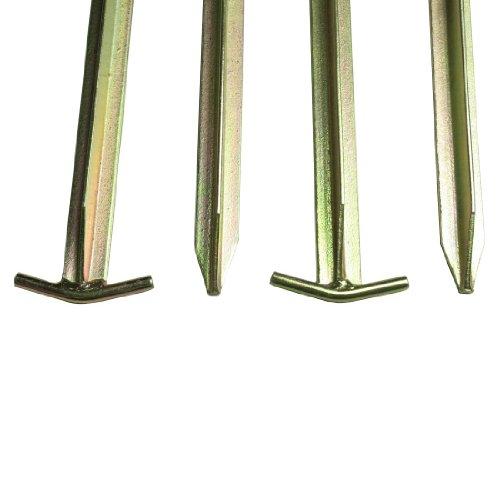 10T Zeltheringe – Stahl T-Profil, 4er-Set - 8