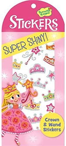 Peaceable Kingdom Super Shiny! Foil Crown and Wand Sticker Pack