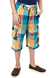 Pure Cotton Checked Cargo Shorts