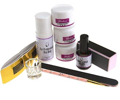 acrylic-powder-nail-art-set-white-clear-pink-powder-primer-acrylic-liquid