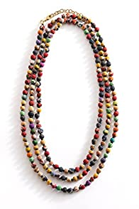 World Finds Fair Trade Kantha Bead Long Necklace