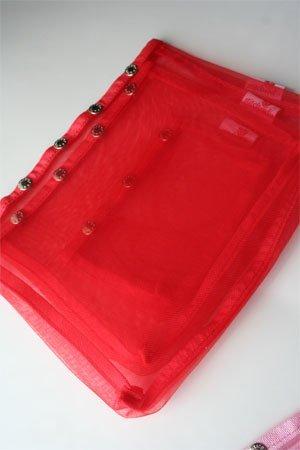 Namaste Oh Snap Set 3 Red Mesh Sewing Knitting Bags by Namaste