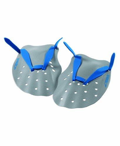 Speedo Contoured Swim Paddles (Grey/Blue, Small) image