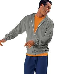 Hanes 9.7 oz. Ultimate Cotton� 90/10 Full-Zip Hood - CHARCOAL HEATHER - XL