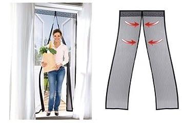 Rideau en porte porte magn tique pour le filet - Rideaux de porte anti mouches ...