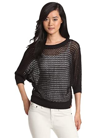 Bench Women's Hottish Open Weave Knit Top, Black, X-Small