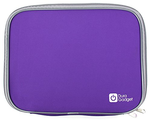 Duragadget Purple Water Resistant & Shock Absorbent Neoprene Sleeve With Dual Zips For Acer Iconia W700 11.6-Inch Tablet (Intel Core I5 3317U 1.7Ghz, Wi-Fi, Windows 8), Acer Iconia Tab A700 32 Gb & Acer Iconia Tab A210 - (Nvidia Tegra T30l 1.2Ghz, Android
