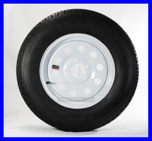 Cheap New Two Trailer Tires + Rims ST185/80D13 185/80D-13 13 ST White Modular