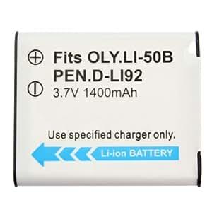 Package Includes: 1 x LI-50B Battery for Olympus LI-50B/Pentax D-LI92
