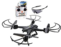 Holy Stone X400C FPV RC Quadcopter Drone with Wifi Camera Live Video One Key Return Function Headless Mode 2.4GHz 4 Chanel 6 Axis Gyro RTF Left and Right Hand Mode Bundle with Goggles