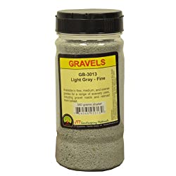 JTT Scenery Products Ballast and Gravel, Light Gray, Fine